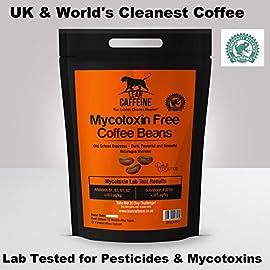 Lean Caffeine Bulletproof Coffee Ground/Beans 227g   Pesticide & Mycotoxin Free, Low Acid