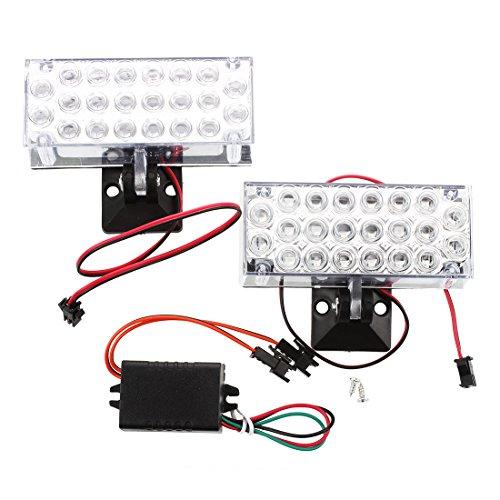 LED Auto Licht - SODIAL (R) 2 x 22 LED Auto Flashing Notlicht Grill Strobe Blitzlampe 12V Rot