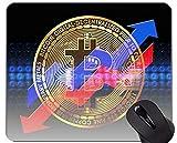 Yanteng Tappetino per Mouse con Bordo di Chiusura, Moneta Bitcoin Pad per Mouse con Bordo Cucito