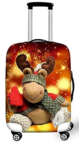 FOR U DESIGNS Noël 2017 Peinture elastique housse valises pour 18-28 pouce voyage bagages valise de protection couverture housse de protection valises housse valise L