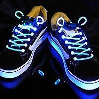Cordones de zapatillas con luz LED de Kimberleystore, diseño creativo, color azul