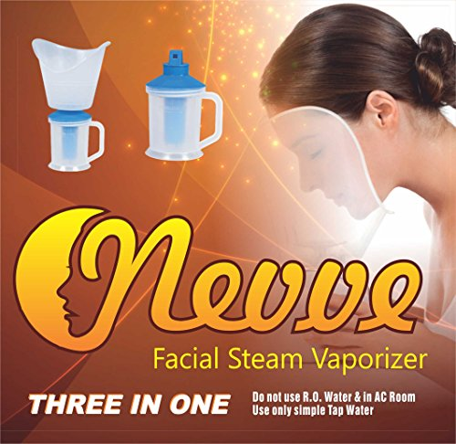 Nevve Steam Facial Sauna, Vaporizer and Nose Steamer 3 in 1 Steam Inhaler