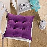 fendii suave silla cojín asiento cojín asiento silla de comedor de jardín de cocina 40x 40x 8cm, color morado