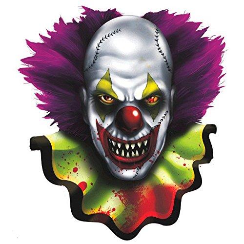 190192Creepy Carnival Bulk Clown Gesicht Papier Ausschnitt, 34,1cm (Halloween Neuheit Spielzeug Bulk)