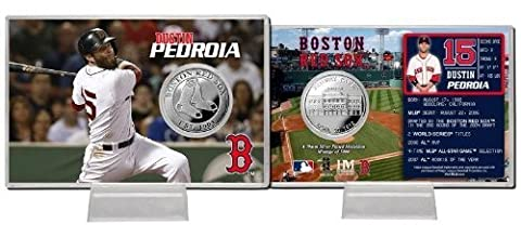 MLB Boston Red Sox Dustin Pedroia Silber Münze