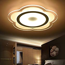 GK-Semplice ed elegante soggiorno è accogliente e romantica camera da letto marrone chiaro off scale corridoi led luce a soffitto round slim tre colori luce + telecomando,75x5cm