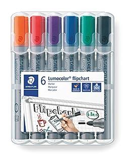 Staedtler Lumocolor 356 WP6. Rotuladores de colores para flipchart. Estuche con 6 marcadores de colores variados. (B000J6BCN4) | Amazon price tracker / tracking, Amazon price history charts, Amazon price watches, Amazon price drop alerts