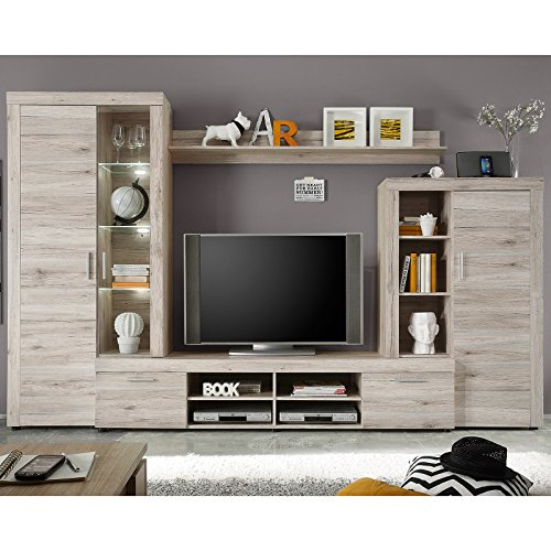 trendteam fs983 88 wohnwand anbauwand wohnzimmerschrank. Black Bedroom Furniture Sets. Home Design Ideas