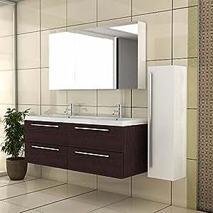 Waschbeckenunterschrank mit spiegelschrank badm bel for Amazon spiegelschrank
