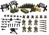 Serie de la Segunda Guerra Mundial de la fuerza alemana - Mini figuras de Lego personalizadas -...