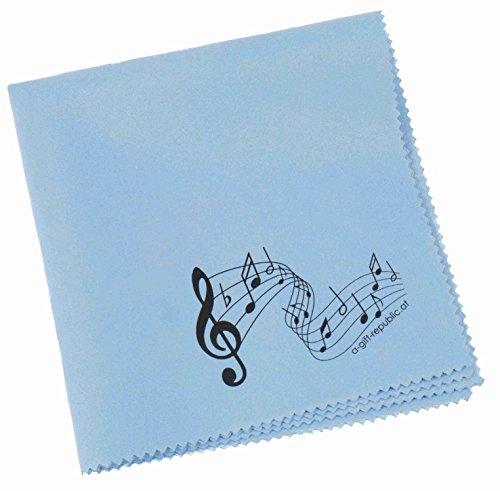 Reinigungstuch für Instrumente Notenzeile (blau)
