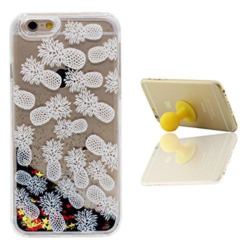 iPhone 6S Plus Custodia Apple iPhone 6 Plus 6S Plus 5.5 inch Cover Nero Sabbia Stelle Flusso Duro Trasparente Acqua Liquida Ragazza Modello iPhone 6 Plus Case X 1 Silicone Titolare color-7
