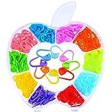 200-Pcs in 10-Farben-Locking Maschenmarkierer Stichzähler für Häkeln oder Stricken