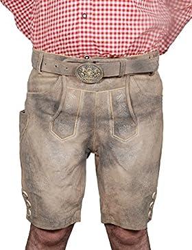 BGW Herren Trachten Lederhose mit Gürtel Größe 48-60 Trachten Set,Hemd, Socken Neu
