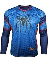 Rinat Symbiotik - Maillot pour gardien de but unisexe - Multicolore (bleu/rouge) - Taille: L