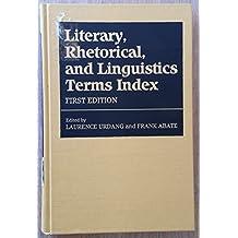 Literary, Rhetorical and Linguistics Terms Index