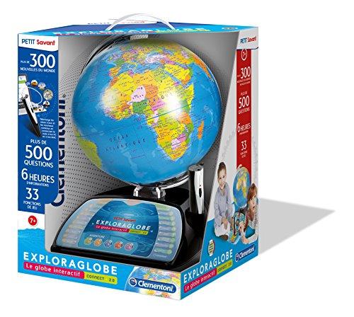 Clementoni–52267-exploraglobe Premium–Le Globe interactiva évolutif-jeu educativo