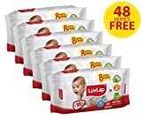 #8: Luvlap Paraben Free Baby Wet Wipes with Aloe Vera - 6 Packs (432 Wipes + 48 Wipes Free)