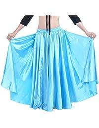 Dance Fairy Danza del Vientre Satén Faldas Largas Vestidos de Mujer