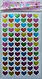 10 fogli di brillantini colorati cuore Adesivi Sharp (450 adesivi)