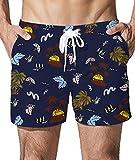 Goodstoworld Uomo Mare Costume Pantaloncini Bagno Spiaggia Costumi Estivi Surf Pantaloni Corti Piscina Estate Moda Short XL Hawaii Palm