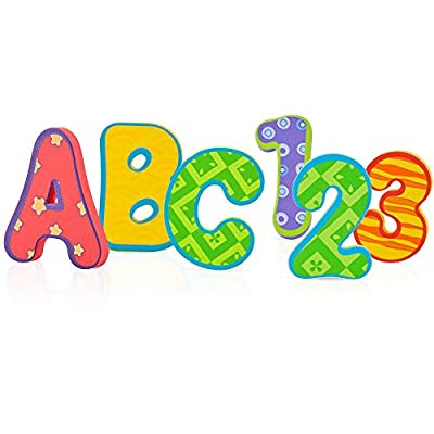 Nuby Foam Bath Letters and Numbers, 36 pieces