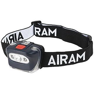 Airam Head Light Stirnlampe LED 3W, Schwarz, 58x 43x 43mm