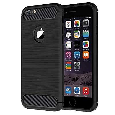 Anjoo Coque iphone 6/6s, Noir Silicone Housse Etui Anti-Rayures Fibre de Carbone Coque de Protection pour iphone 6 iphone 6s de Anjoo - Coques et housses