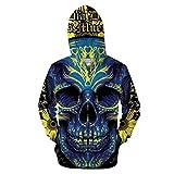 LOOENSTG 3D Zip Hoodie Zipper Hoody Herren Trainingsanzug Lässige Sweatshirt Longsleeve Streatwear Pullover ZIP489 XL