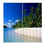 Baoblaze 2er-Set Vorhang Schal Verdunkelungsvorhang Blickdicht für Wohnzimmer Schlafzimmer, Auswahl - Strand