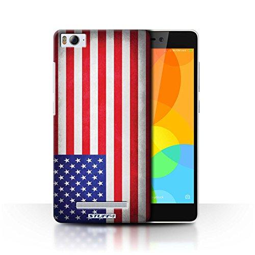 Stuff4® Hülle/Case für Xiaomi Mi 4i / Amerika/amerikanisch Muster/Flagge Kollektion