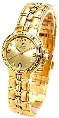 Oskar Emil Casablanca 304L - Reloj Diamante Oro Mujeres, Con Esfera Dorado
