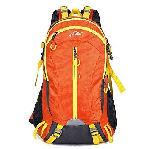 Il nuovo modo impermeabile borsa sportiva per il tempo libero all'aperto 40L dello zaino di alpinismo Ultralight ( colore : Rosso ) Arancia