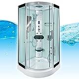 AcquaVapore DTP8046-0000 Dusche Duschtempel Komplett Duschkabine 80x80, EasyClean Versiegelung der Scheiben:2K Scheiben Versiegelung +89.-EUR