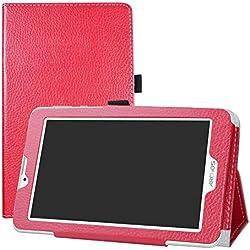 """LFDZ Archos Access 70 3G Coque, Slim Fit Housse Support Ultra-Mince et Léger Etui Cover pour 7.0"""" Archos Access 70 3G Tablet,Rose"""