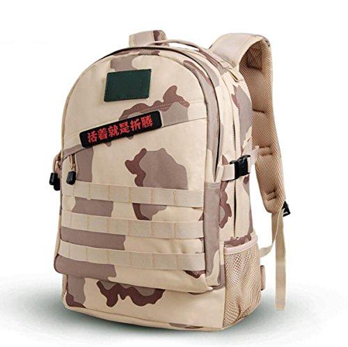 Multifunktionale Wasserdichte Oxford Cloth Camouflage Outdoor Bergsteigen Tasche,DesertDigital40L ThreeSandCamouflage40L