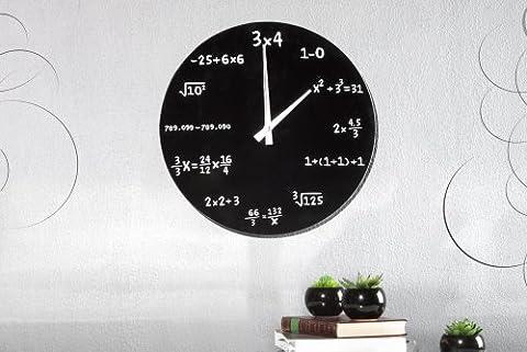 Glas Wanduhr Mathematics