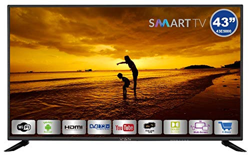 HKC Yasin 43E5000: 109 cm (43 Pulgadas) Smart-TV (Full HD, Triple Tuner, Ci+, Reproductor de Medios a través de USB 2.0)