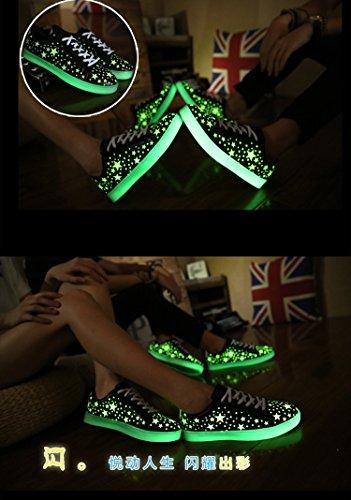 2016quattro stagioni Casual Uomo e Donna star-stripes luminoso Sneakers 2colori eu 35–44 Men Black