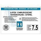 SFM ® OP Latex : 6.0, 6.5, 7.0, 7.5, 8.0, 8.5, 9.0 steril gepudert mikro texturiert chirurgische OP Handschuhe weiß 7.5 (50 Paare)