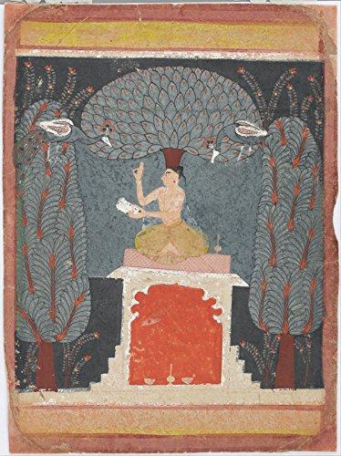 Spiffing Prints Bangal Ragini from A Ragamala Series - Extra Large - Matte - Black Frame - Serie Black Frame