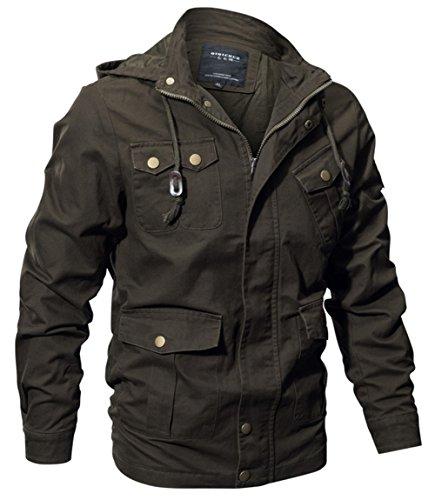 Herren Frühling Herbst Baumwolle Multi-Pocket Mäntel Klassisch Mode Militär jacken Männer...
