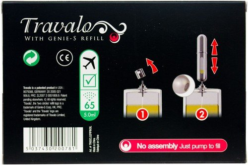 Travalo Pure Gift 2 Twin Pack Pink and Silver Atomisers with Free Carry Case, Pink – 65-Spray