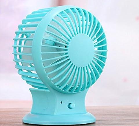 Chargeur Mini Usb Mini Ventilateur Double Lame De Bureau Ventilateur 2 Ventilateur Réglable Blocage 10*8 5*13Cm Blue