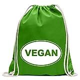 Kiwistar Vegan Divertente zaino sportivo per il fitness. Gymbag per lo shopping in cotone con coulisse