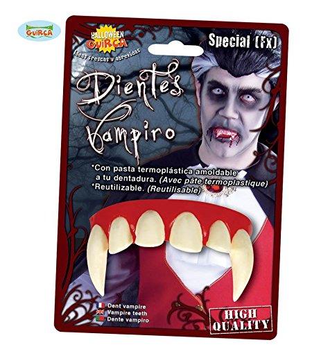 SPECIAL FX - VAMPIR ZÄHNE - mit Thermopaste, Blutsauger Gebiss Feldermaus Fledermäuse Graf Dracula untot (Zahnspange Zähne Kostüm)