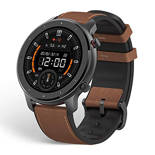 "Xiaomi Amazfit GTR Reloj Smartwatch Deportivo | 20 días de batería | AMOLED de 1.39"" | GPS + GLONASS | Frecuencia cardíaca Continua de 24 Horas (Andrid 5.0 e iOS 10.0) Stainless Steel"