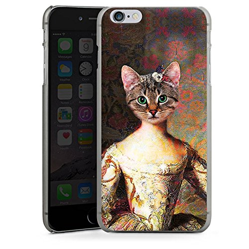 Apple iPhone 8 Plus Tasche Hülle Flip Case Katze Cat Kitty Hard Case anthrazit-klar
