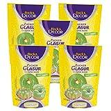 5 x 125g Zuckerglasur grün, Fondantglasur, Zucker-Glasur, Tortendekoration