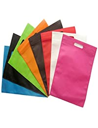 "Non Woven Carry Bags D-Cut(Size-12""X16"") (Pack Of 100),Reusable & Eco-Friendly"